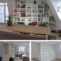 Wohn- und Esszimmerschrank für Räume mit Dachschräge nach Maß.